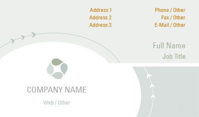 Grey Circular Motion Business Card Template